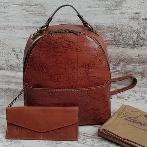 NWT Patricia Nash Full Grain Leather Map Bag